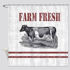 Farm Animal Shower Curtains