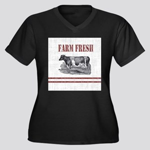 Country Chic Cow Farmhouse Plus Size T-Shirt