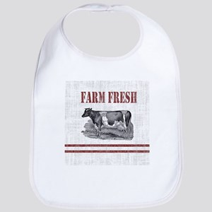 Country Chic Cow Farmhouse Baby Bib