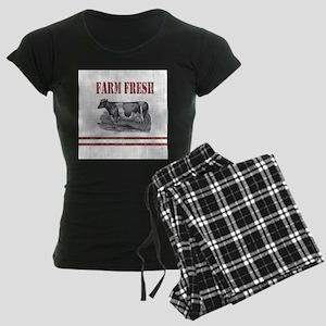 Country Chic Cow Farmhouse Pajamas