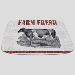 Country Chic Cow Farmhouse Bathmat
