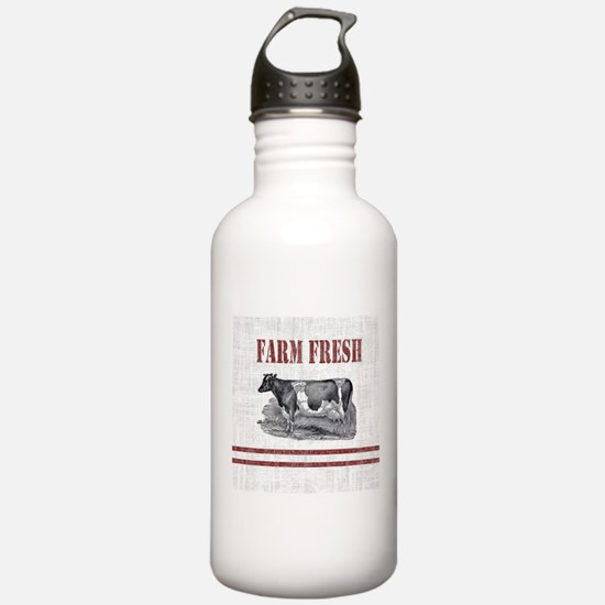 Country Chic Cow Farmh Water Bottle
