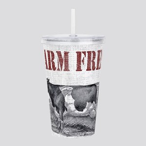 Country Chic Cow Farmh Acrylic Double-wall Tumbler