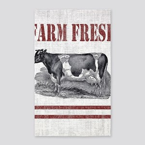 Country Chic Cow Farmhouse Area Rug