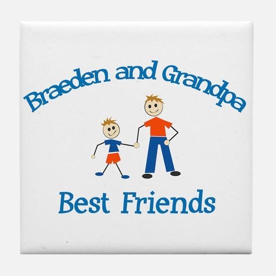 Braeden & Grandpa - Best Frie Tile Coaster