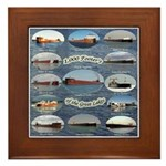 1,000 Footers On The Great Lakes Framed Tile