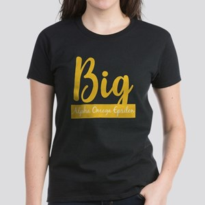 Alpha Omega Epsilon Big Women's Dark T-Shirt
