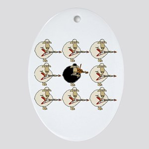 Stand Out From the Herd Oval Ornament