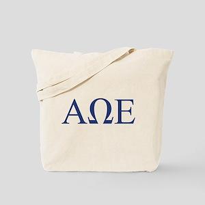 Alpha Omega Epsilon Letters Tote Bag