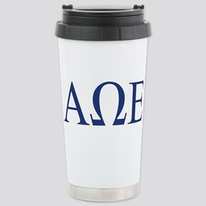 Alpha Omega Epsilon Let Stainless Steel Travel Mug