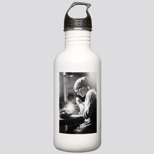 Vintage Woman TIG Welder Water Bottle