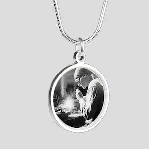 Vintage Woman TIG Welder Necklaces