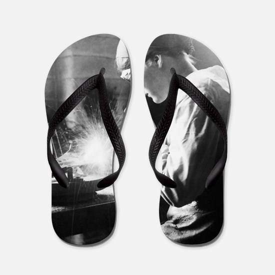 Vintage Woman TIG Welder Flip Flops