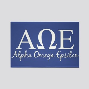 Alpha Omega Epsilon Rectangle Magnet