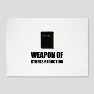 Weapon of Stress Reduction Bible 5'x7'Area Rug