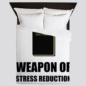 Weapon of Stress Reduction Bible Queen Duvet