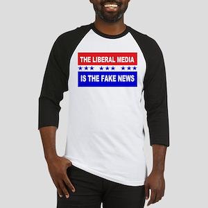 Liberal Fake News Baseball Jersey