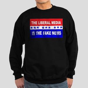 Liberal Fake News Sweatshirt (dark)