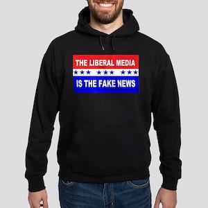 Liberal Fake News Hoodie (dark)