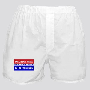 Liberal Fake News Boxer Shorts