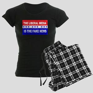 Liberal Fake News Women's Dark Pajamas
