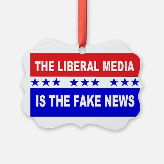 Liberal Fake News Ornament