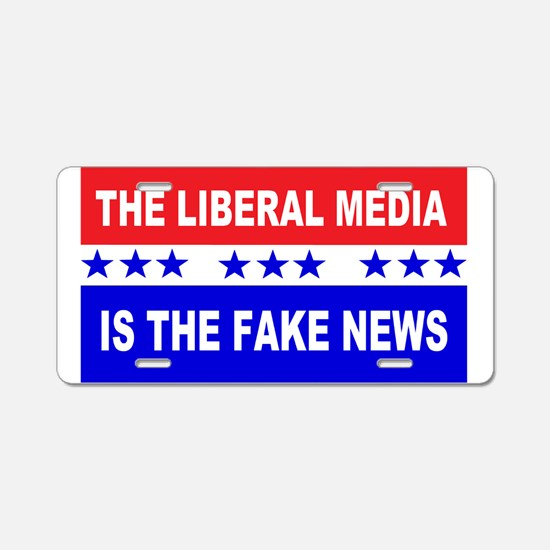 Liberal Fake News Aluminum License Plate