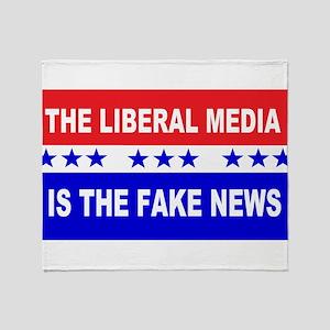 Liberal Fake News Throw Blanket
