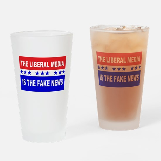 Liberal Fake News Drinking Glass
