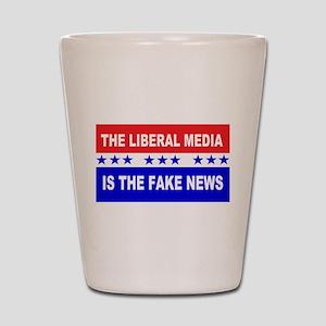 Liberal Fake News Shot Glass