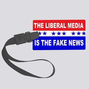 Liberal Fake News Large Luggage Tag