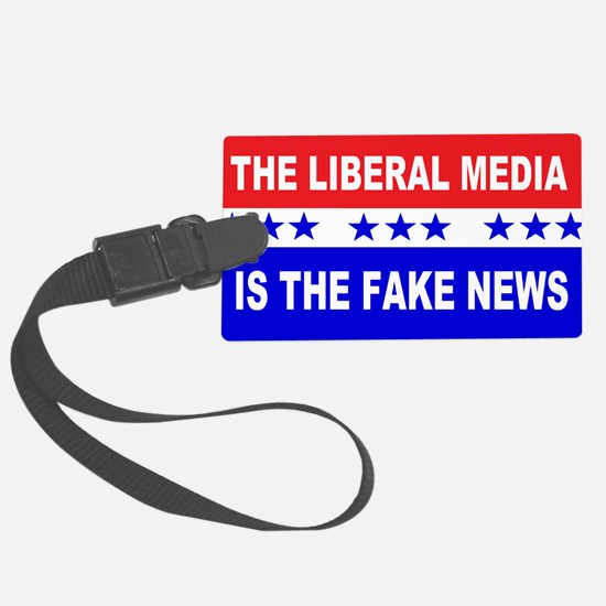 Liberal Fake News Luggage Tag