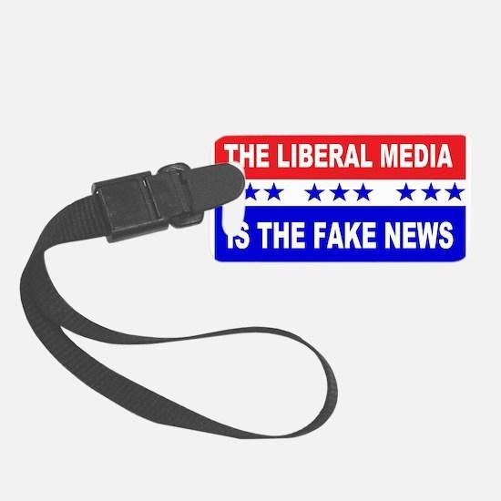 Liberal Fake News Luggage Tag