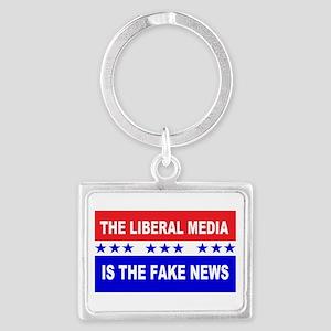 Liberal Fake News Landscape Keychain
