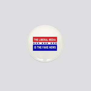 Liberal Fake News Mini Button