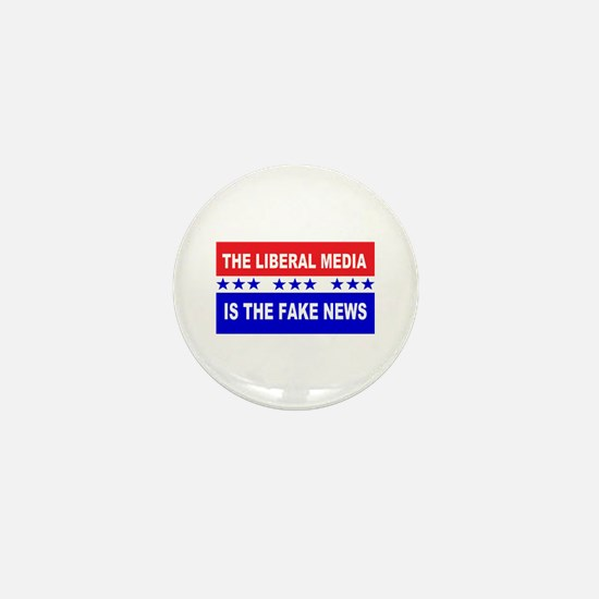 Liberal Fake News Mini Button