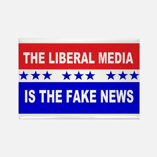 Liberal Fake News Rectangle Magnet