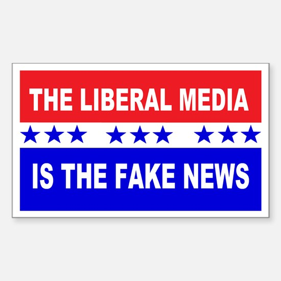 Liberal Fake News Sticker (Rectangle)