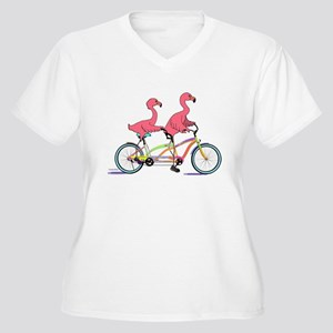 Tandem Flamingos Plus Size T-Shirt