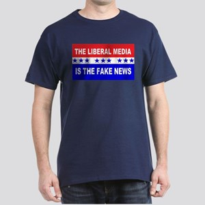 Liberal Fake News Dark T-Shirt
