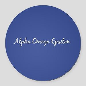 Alpha Omega Epsilon Round Car Magnet