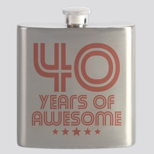 40 Years Of Awesome 40th Birthday Flask