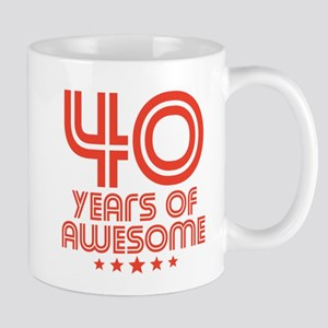 40 Years Of Awesome 40th Birthday Mugs