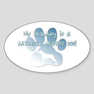 Catahoula Granddog Oval Sticker