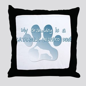 Catahoula Granddog Throw Pillow