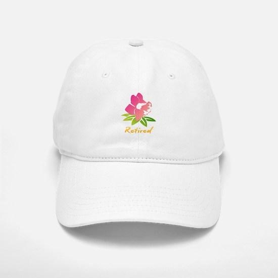 Retired Flower Baseball Baseball Cap