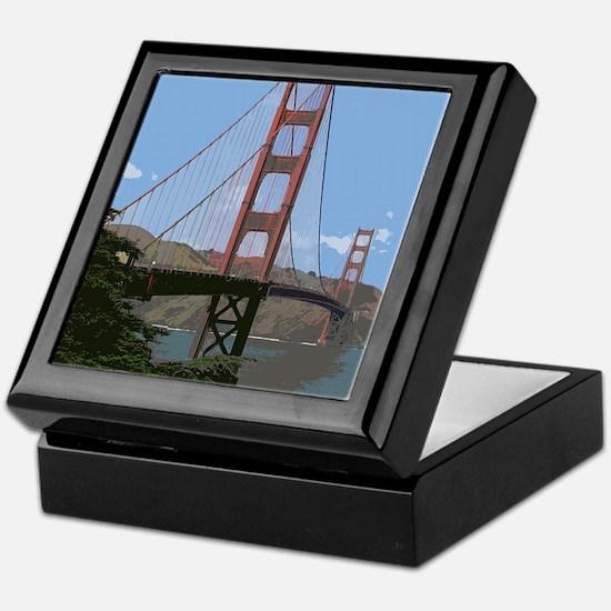 Golden Gate Bridge 008 Keepsake Box