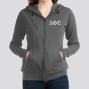 Delta Phi Epsilon Letters Women's Zip Hoodie