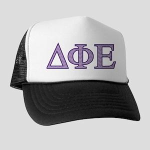 Delta Phi Epsilon Letters Trucker Hat