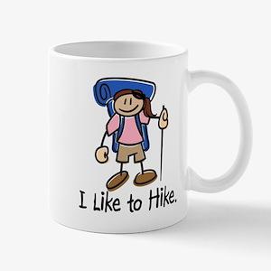I Like To Hike Girl (Blue) Mugs